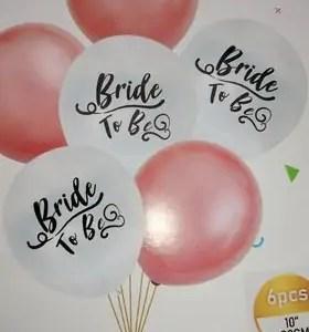 Õhupallid Bride to be  6tk suurus 30cm