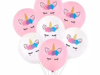 Kummist õhupallid Unicorn 6tk, 30cm