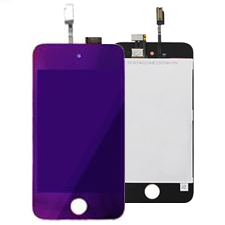 Lcd Screen Touch Screen Electroplated For iPOD Touch 4G Purple