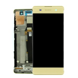 SONY XPERIA X LCD DISPLAY WITH DIGITIZER AND FRAME LIME GOLD