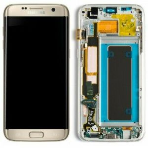 Samsung Galaxy S7 Edge LCD Screen Complete With Frame Assembly Unit Gold