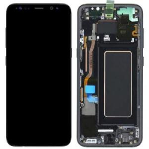 Samsung S8 LCD Screen Complete With Frame Assembly Unit Black