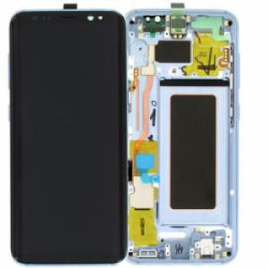 Samsung S8 LCD Screen Complete With Frame Assembly Unit Blue