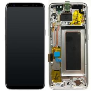 Samsung S8 LCD Screen Complete With Frame Assembly Unit Silver