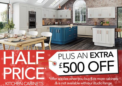 Half Price kitchen cabinets plus an extra £500 off