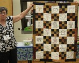 Ann Ware - Primitive quilt with embroidery