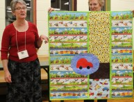 Laurie Lyons - Baby Quilt with Cars and Trucks