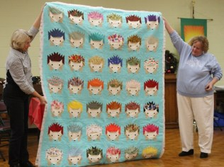 Kathy Martin - Isabelle's Hedgehogs quilt.