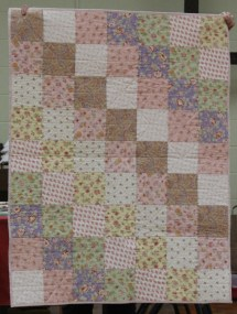 Kristin Farwig - Comfort quilt. Made from kit provided by The Barefoot Quiltessas.