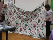 Victoria Person - Big Green Hearts Quilt (Goodwill find)