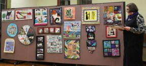 Another photo of the Challenge Quilts.