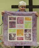 Donna Kittleson - Gelli Prints Quilt.