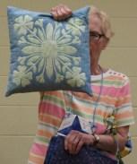 Judi Byrd - Pillow made using Faux Hawaiian Applique Stencil Technique