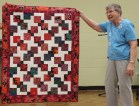 Bobby Badger - Disappearing Nine Patch quilt