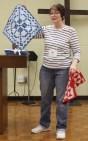 Cindy King - Blue Miniature Quilt