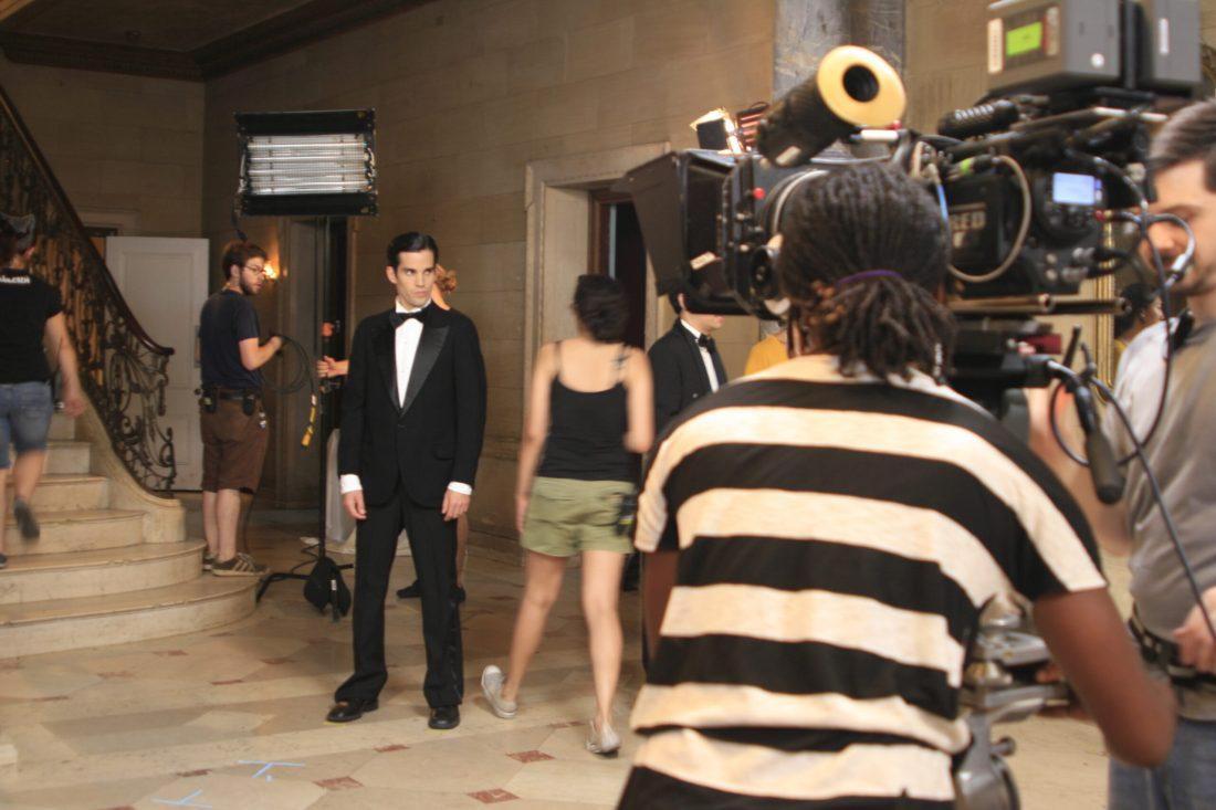 crew on a film set
