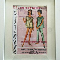 "The ""Art"" of Re-purposing A Vintage Sewing Pattern"