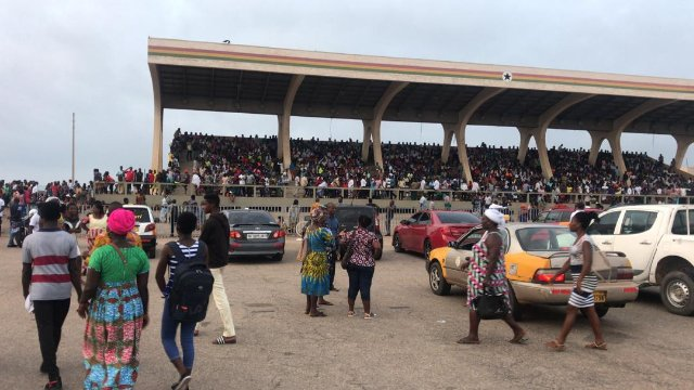 Chaos at Black Star square as parents battle for SHS placement for wards