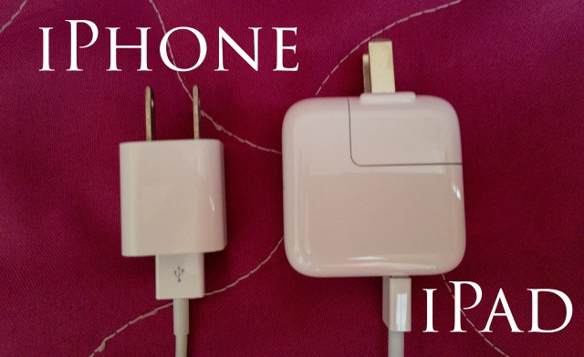 IPhone vs iPad charger