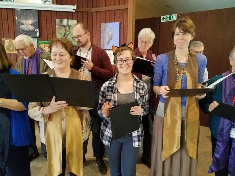 Starr King Unitarian Universalist choir singing