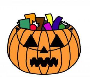 pumpkin with treats