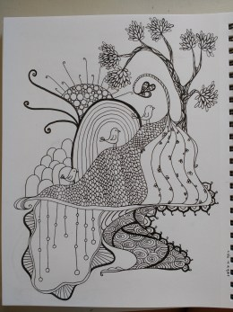 coloring page in progress