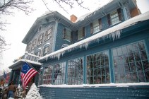 the sherwood inn - the icicles look cool :)