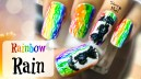 Watercolor Rainbow Rain Nail Art Tutorial