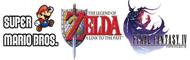 Mario Bros, Zelda, Final Fantasy