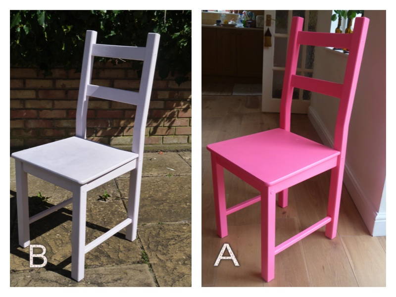 neon pink chair danish mid century chairs simply me b was painted with laura ashley pale amethyst a rust oleum