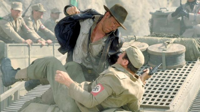 Indiana Jones punch a nazi