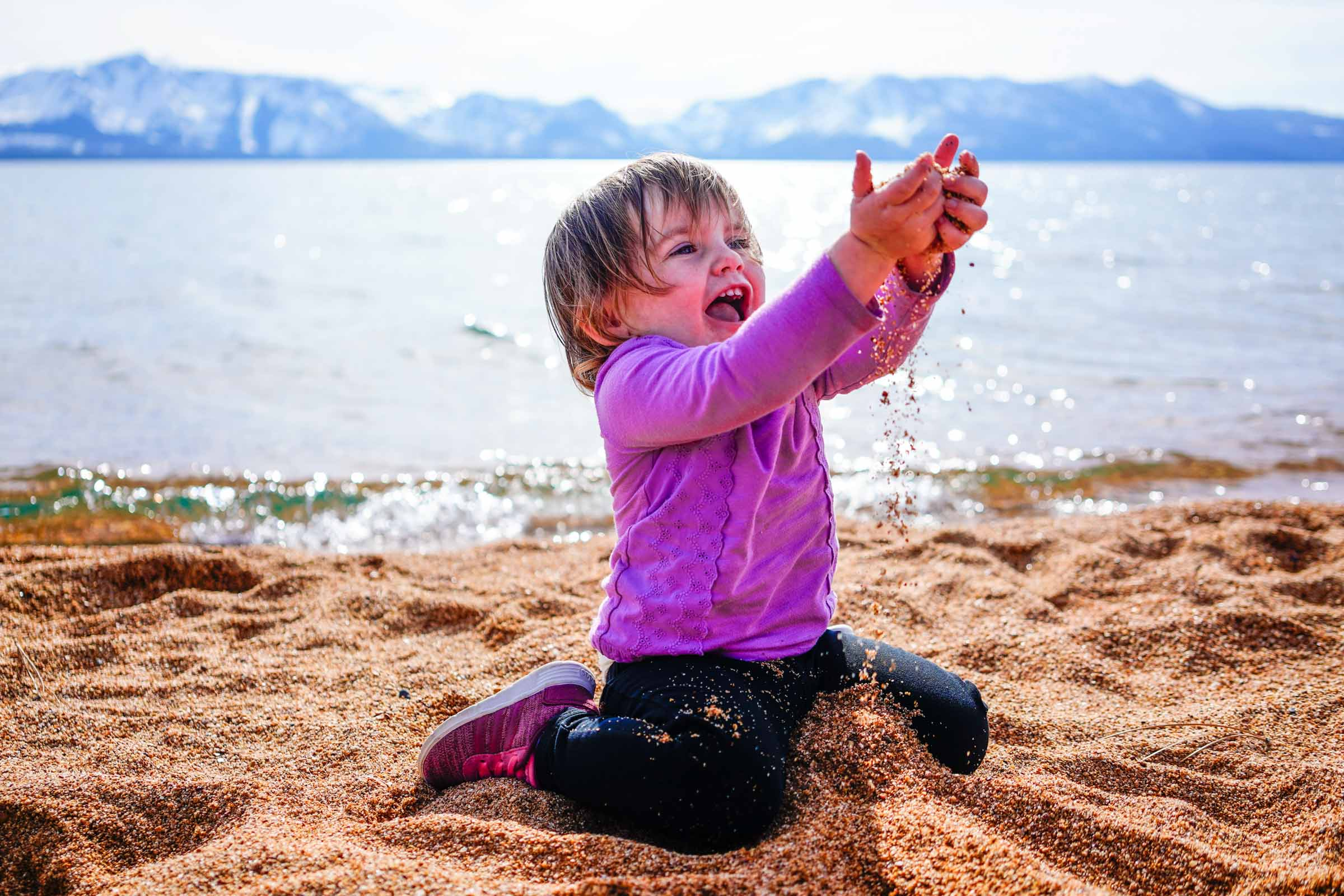 Lake Tahoe Family Photography Session at Nevada Beach