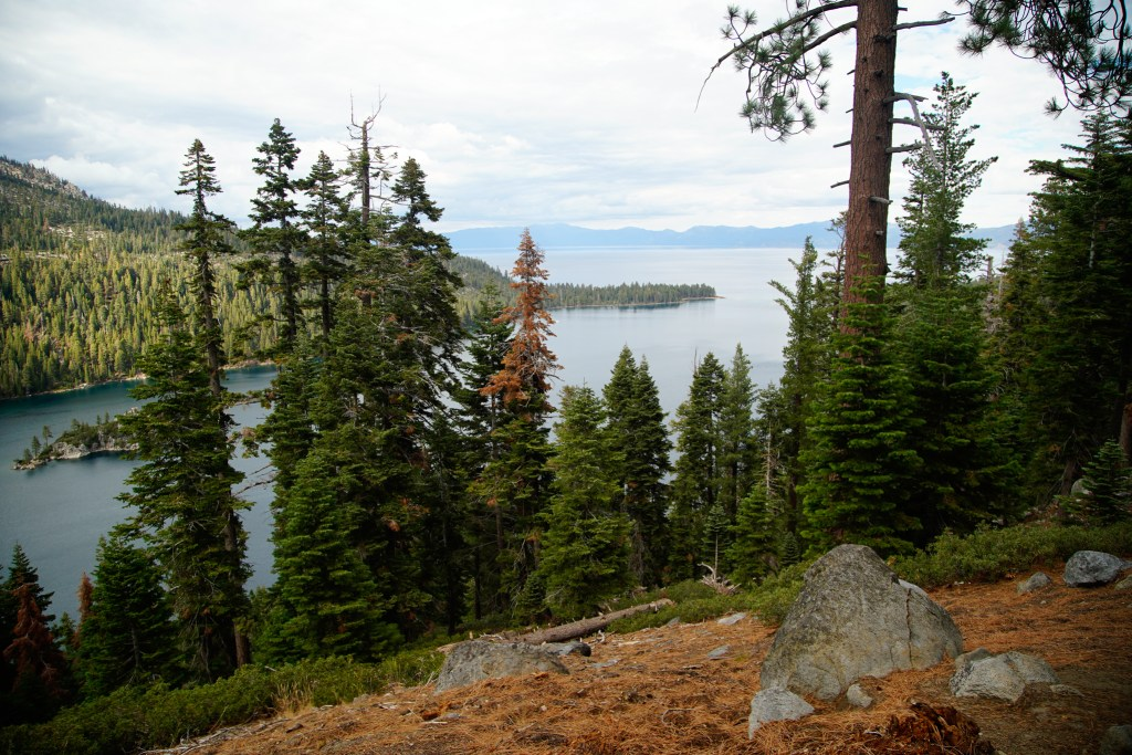 The Rubicon Trail along the southwest shore of Lake Tahoe
