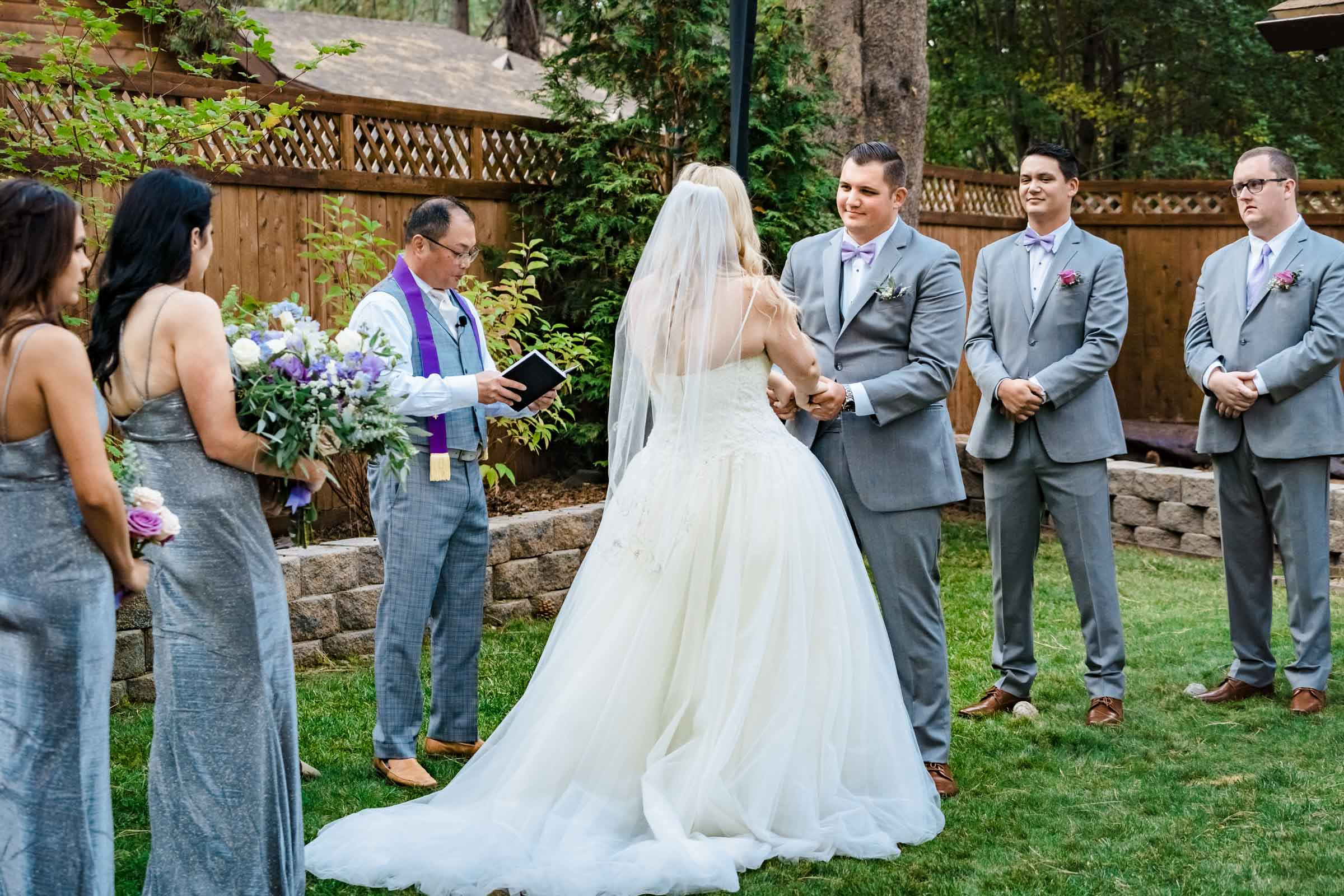 Elopement wedding ceremony in South Lake Tahoe