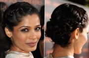 celebrity freida pinto - hair