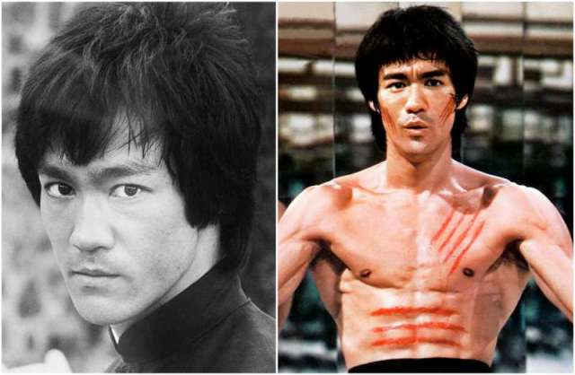 Bruce Lee's eyes and hair color