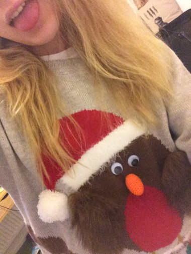 And of course, a Christmas jumper!