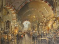 Another beautiful painting of the spice market
