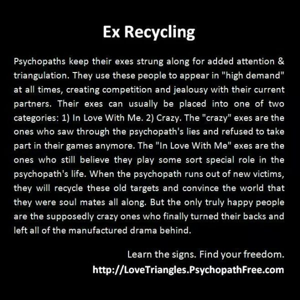 Narcissist crazy exes