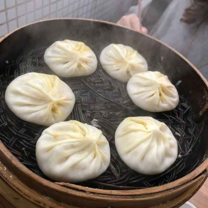 THIS WAS THE PURE CRAB XIAOLONGBAO!! they were bigger so the order was placed in 2 steamed basket