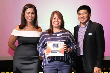 Anna Ramos of Ayala Land, Anne delos Reyes of BPI, and Mae Bernardo of Resorts World won ABS-CBN TVPlus Mahiwagang Black BoxesMR
