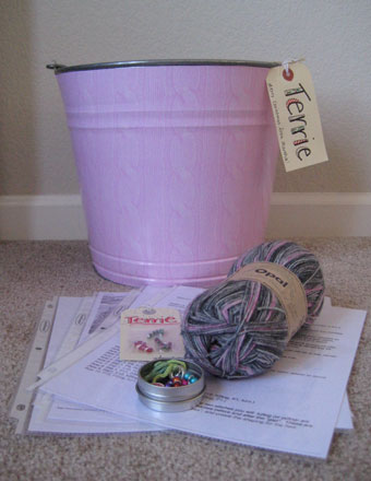 Bucket, Yarn, Stitch Markers