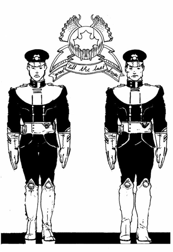 Brigade First Lieutenants Flanking ASB Logo