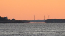 Pumpkin colored turbines