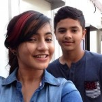 Meera Deosthale with her brother