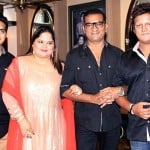 Abhijeet with his wife and children