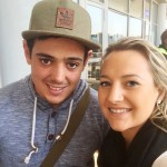Quinton de Kock with Sasha Hurly