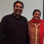 Hardeep Gill with his wife Anita Devgan