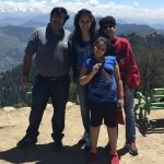 Priyanak Chaturvedi with her family