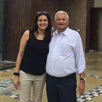 Priyanak Chaturvedi with her father
